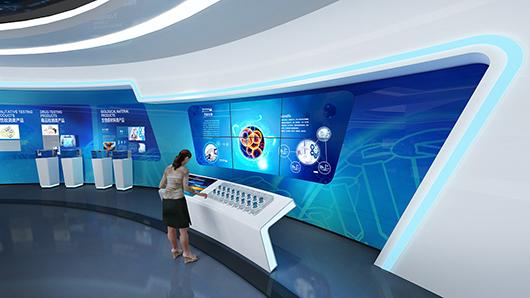 科技企业展厅设计方案之展示设计效果图2