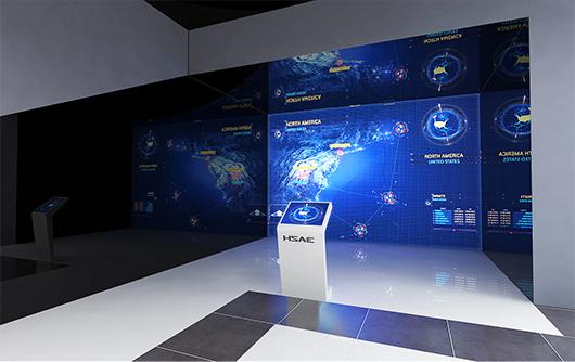新能源汽车展厅设计方案之业绩展示设计效果图