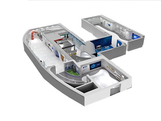 机械展厅设计效果图16