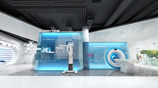 医疗器械展厅设计效果图1