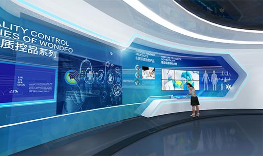 科技企业展厅设计方案之产品展示设计效果图2