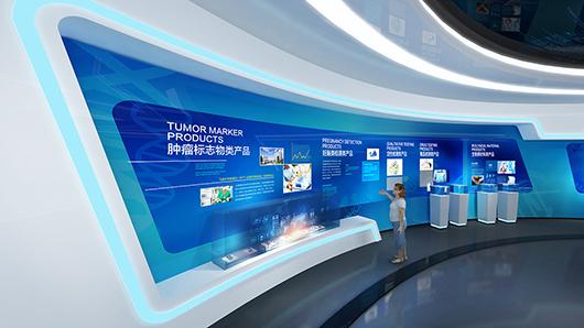 科技企业展厅设计方案之产品展示设计效果图