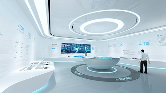 科技企业展厅设计方案之展示设计效果图