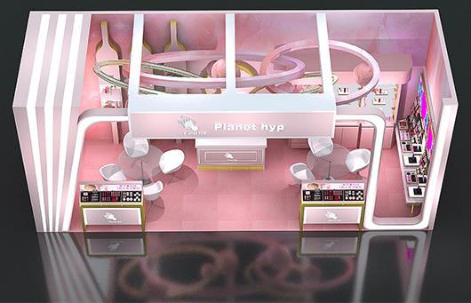 化妆品展台设计效果图24