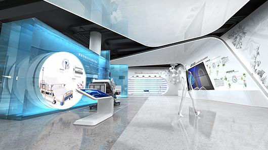 医疗器械展厅设计效果图2