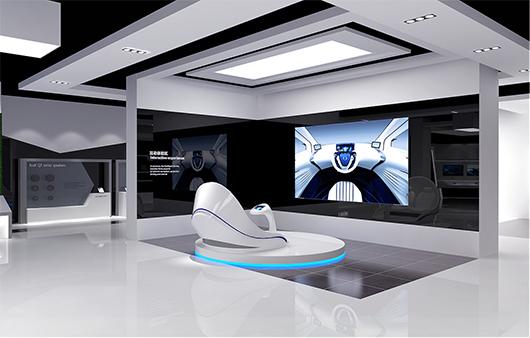 新能源汽车展厅设计方案之互动体验区设计效果图