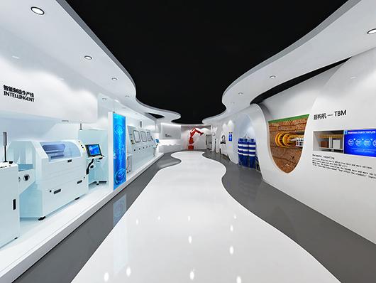 机械展厅设计效果图