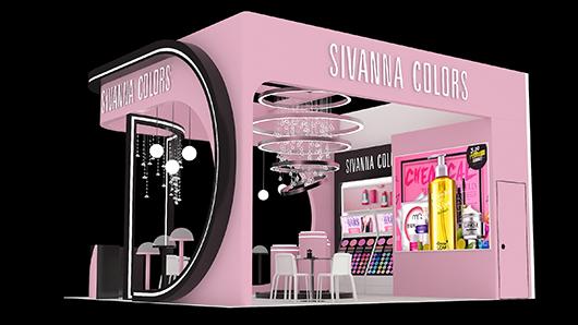 化妆品展台设计效果图1