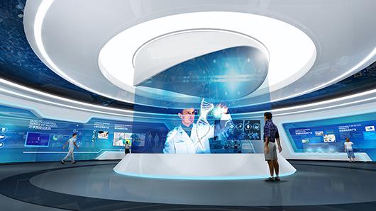 科技展厅设计装修施工效果图