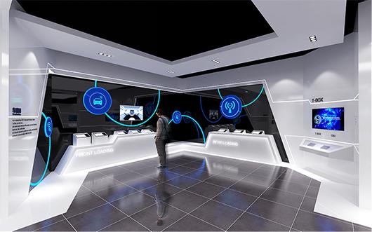 新能源汽车展厅设计方案之展示设计效果图