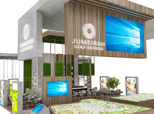 房地产展台搭建方案之展示区设计效果图