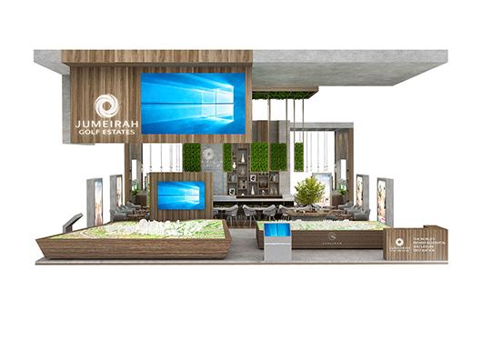 房地产展台设计搭建效果图