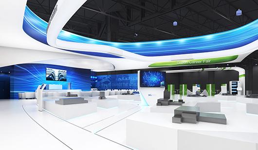 展会展览搭建方案之内部设计效果图2
