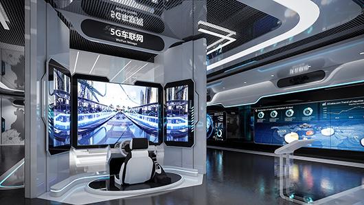 科技企业展馆展厅设计装修效果图