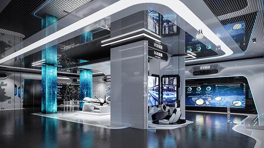 展览馆设计公司设计的5g科技展馆展厅设计方案