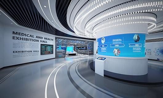多媒体智能展厅设计方案之转角设计效果图