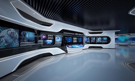 多媒体智能展厅设计方案之展示大厅效果图