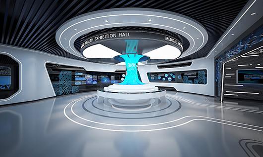 多媒体智能展厅设计方案之展示大厅设计效果图