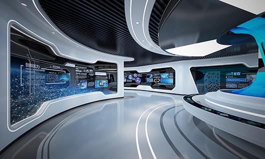 多媒体智能展厅设计方案之展示设计效果图