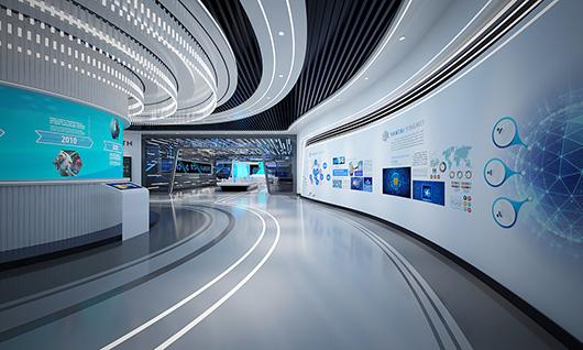 多媒体智能展厅设计方案之走廊设计效果图