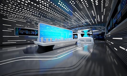 多媒体智能展厅设计方案之展示区域设计效果图