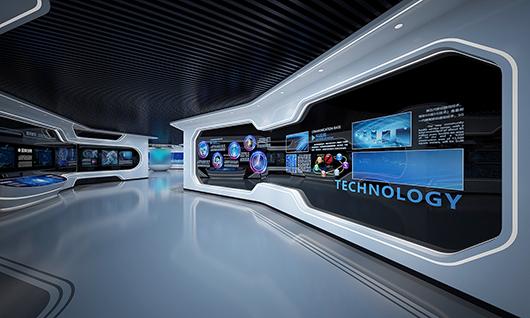 多媒体智能展厅设计方案之墙面设计效果图