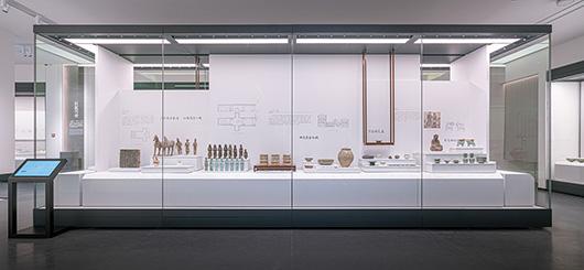 博物馆展厅设计案例的文物展示设计效果图