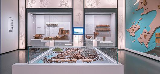 博物馆展厅设计案例的展示台设计效果图