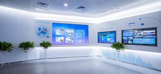 大数据展厅设计方案之展示墙设计效果图