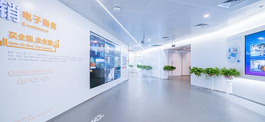 大数据展厅设计方案之走廊设计效果图