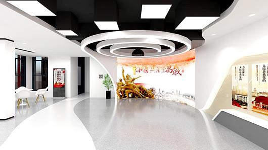 党建文化墙设计方案之展厅设计效果图