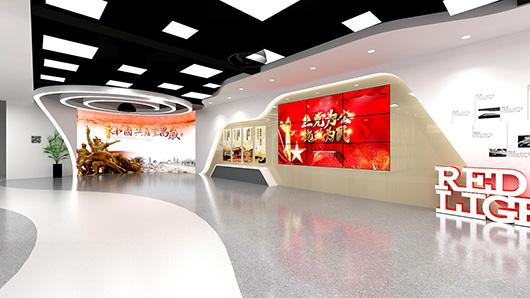 党建文化墙设计方案之走廊设计效果图2