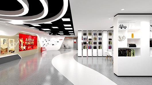 党建文化墙设计方案之走廊设计效果图