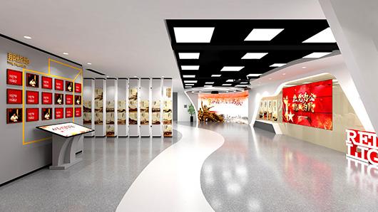 党建文化墙设计方案之展示设计效果图