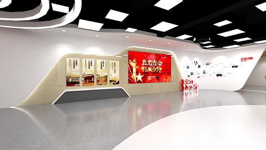 党建文化墙设计方案之展示区域设计效果图