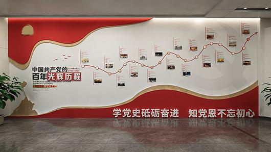 党建文化墙设计效果图7