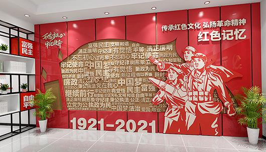 党建展览馆设计方案之展示内容设计效果图