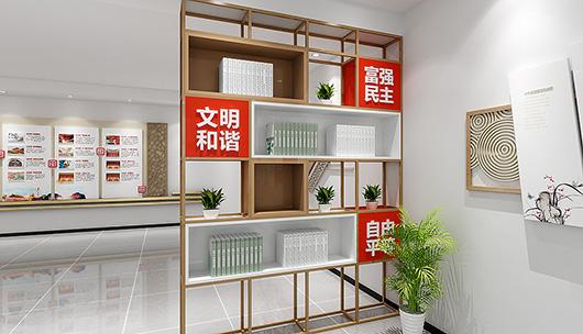 企业党建文化墙设计方案之隔断设计装修效果图