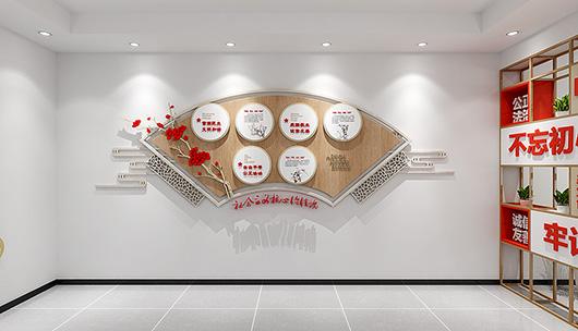 企业党建文化墙设计方案之展示设计效果图