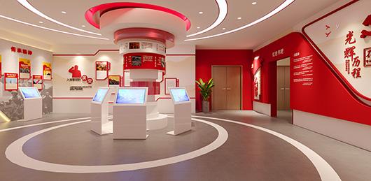 党建文化展厅设计方案之展示厅设计效果图