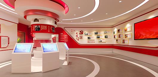党建文化展厅设计方案之文化墙设计效果图