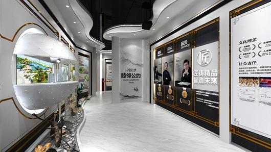碧桂园观邸体验馆设计方案之走廊设计效果图