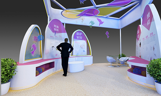 家纺展台设计搭建制作效果图的侧面图2
